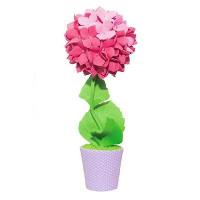 Набор для творчества топиарий Гортензия розовая, 15 см