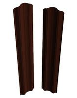 Штакетник Евроштакетник Евротрапеция RAL 8017/8017 двухсторонний(Шоколад )